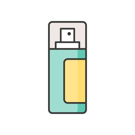 Mist spray bottle, filled outline icon