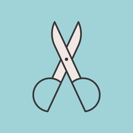 Nasal Scissors or trimmer, filled outline icon 向量圖像