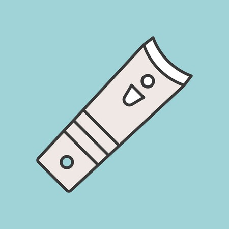 Nail clipper, personal care product filled outline icon