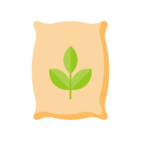 fertilizer, flat icon farming and gardening concept Illustration