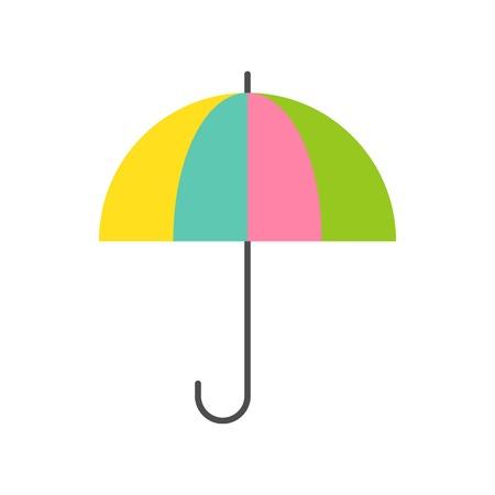 colorful umbrella, Pastel color umbrella, flat icon Çizim
