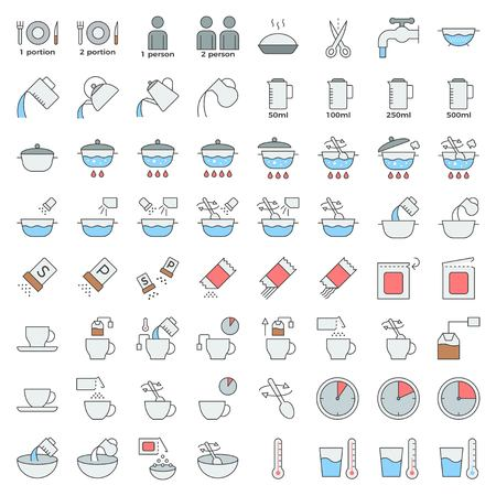 cooking instruction outline icon editable stroke, material for use in package and container