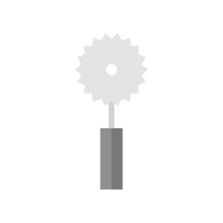 Pizza roller cutter vector icon, Kitchen Utensils, Flat design