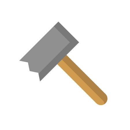 A meat tenderizer or meat pounder icon, flat design  vector Çizim