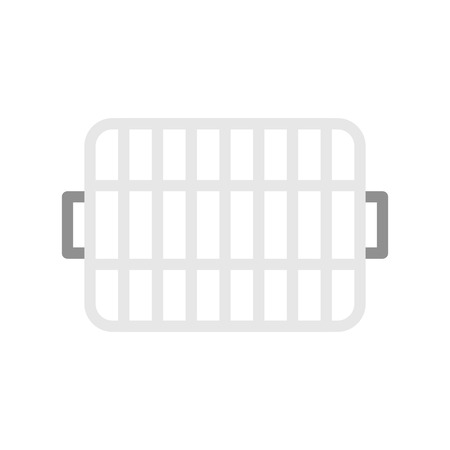 Grill grate icon, cooking equipmemt flat design vector Standard-Bild - 109505396