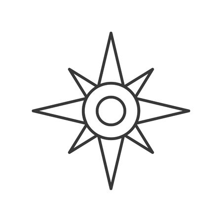 Isolated North star or compass outline vector icon Иллюстрация
