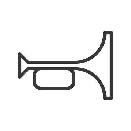 Horn simple Outline vector icon soccer related