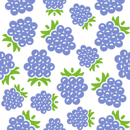 Blackberry seamless pattern vector for wallpaper or wrapping paper