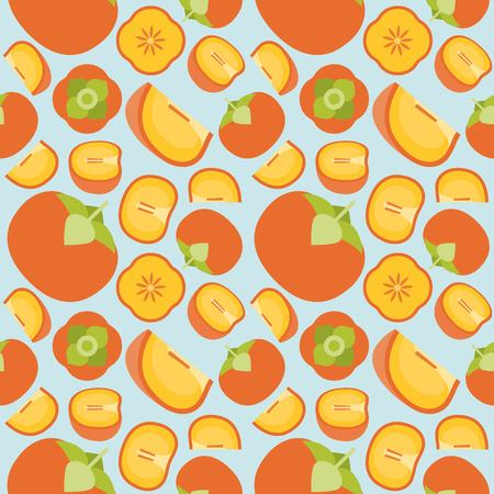 persimmon seamless pattern vector for wallpaper or wrapping paper