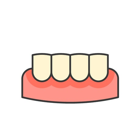 gingivitis, gum inflammation, dental related icon, filled outline.