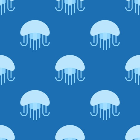 Jellyfish seamless pattern for use as wrapping paper gift or wallpaper and printing, summer theme.