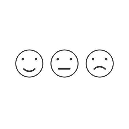 Simple emotion satisfaction line icon vector illustration.
