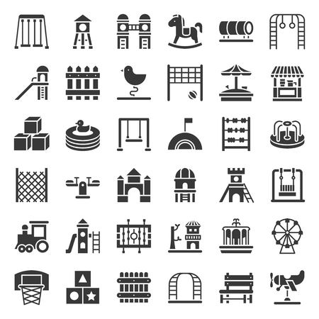 Toys, Playground and rides icon, solid design.