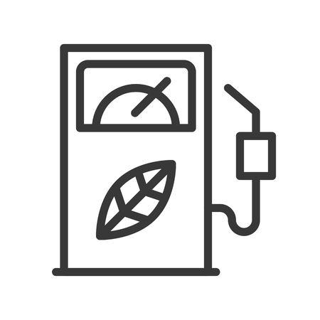 Bio fuel dispenser, Clean energy concept icon.