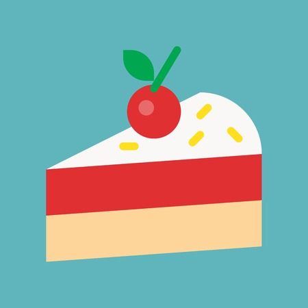 sweets and pastry set, flat design icon.