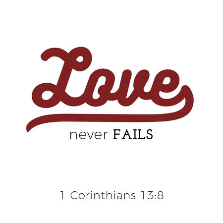 biblical scripture verse from 1 corinthians,for use as poster, printing on t shirt or flyer.
