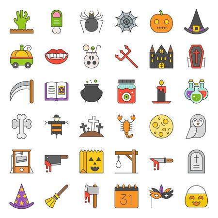 Halloween icon set element, filled outline icon. Illustration