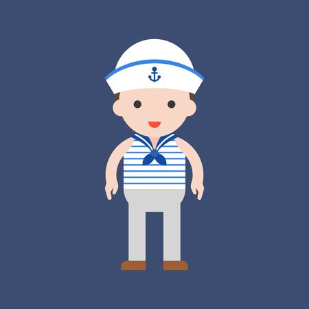 navy, cute character, professional set, flat design.