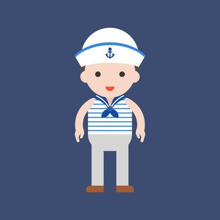 navy, cute character, professional set, flat design.