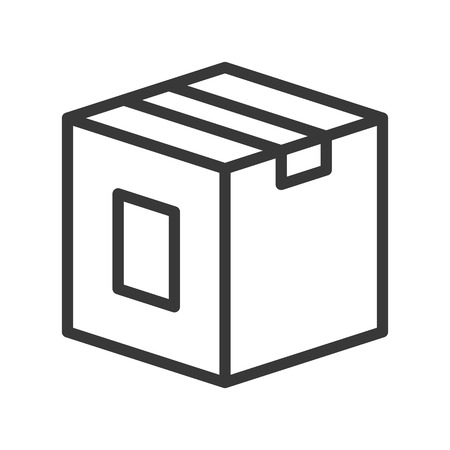 close box, shipping and logistic icon, outline design pixel perfect. Illustration