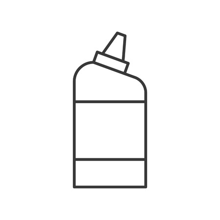 liquid detergent bottle, cleaning service related, outline icon.