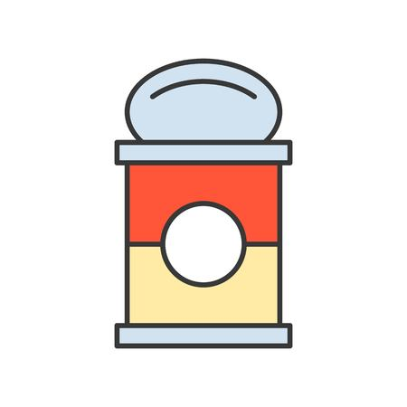 canned soup, food and gastronomy set, filled outline icon. 矢量图像
