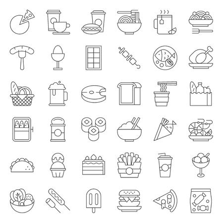 food and drink icon, gastronomy concept thin line design.