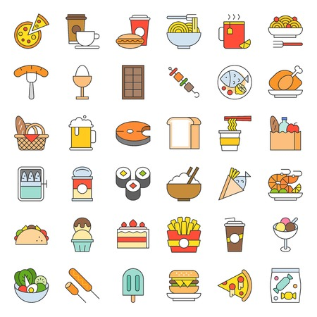 food and drink icon, gastronomy concept filled outline.