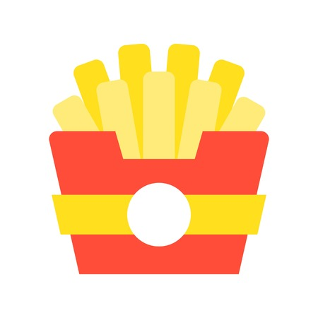 french fries, food and gastronomy set, flat icon.