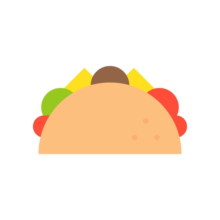 taco, food and gastronomy set, flat icon.