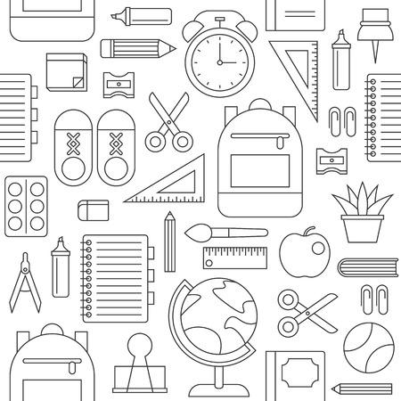 school supplies seamless pattern, back to school theme.