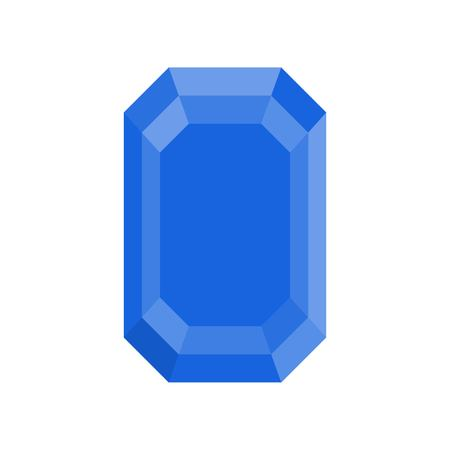 blue sapphire, jewelry related icon, flat design. Çizim