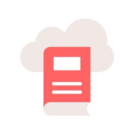 library cloud computing concept vector illustration icon Illustration