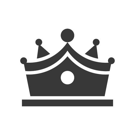 crown with gems, jewelry icon, glyph style