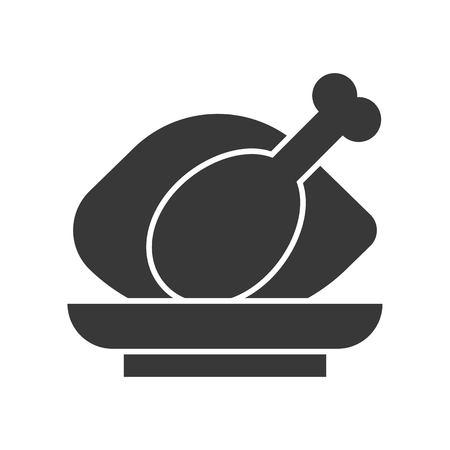 roast chicken, food and beverage set, glyph design icon Ilustração