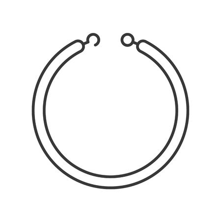 necklace or bracelet, jewelry related, outline icon.