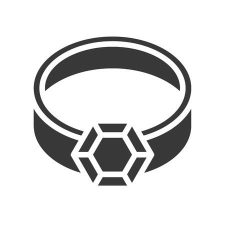 diamond ring, jewelry vector icon glyph style