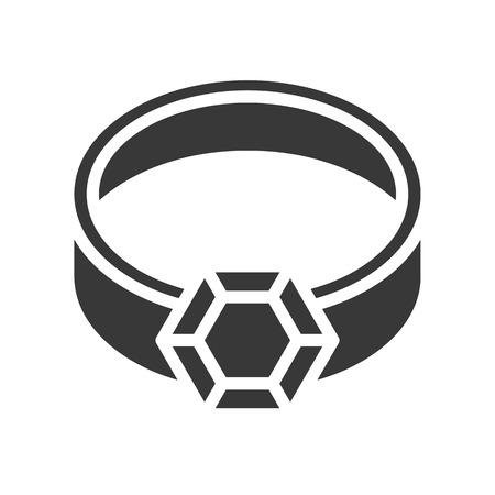 diamond ring, jewelry vector icon glyph style Archivio Fotografico - 127720908
