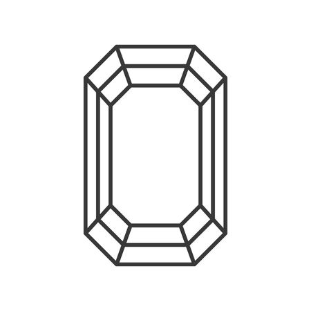 diamond cut, jewelry related outline vector icon.