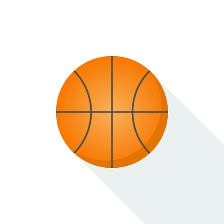 Basketball icon vector isolated on background with long shadow Illustration