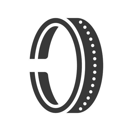 bracelet or cuff, jewelry icon, glyph style