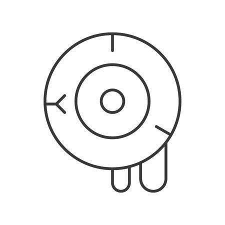 bloody eyeball vector, halloween icon editable stroke