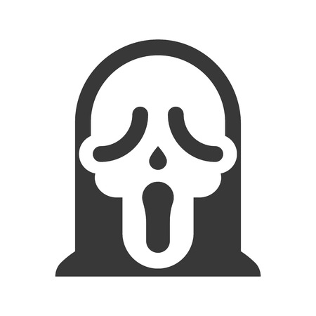 scary mask icon, halloween character vector illustration