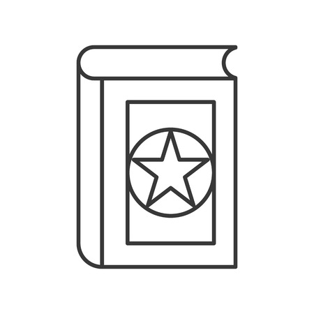 magic book, Halloween related icon, outline design editable stroke Çizim