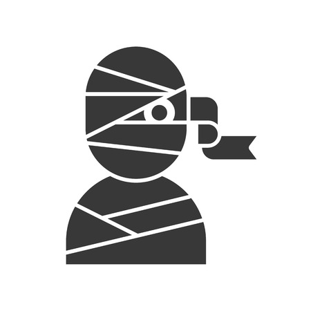 mummy solid icon, Halloween related vector illustration