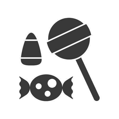 sweets and candy solid icon, vector illustration