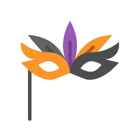 masquerade mask, Halloween related icon, flat design