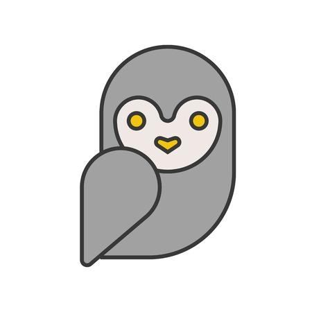 barn owl, Halloween related icon, pixel perfect design editable stroke