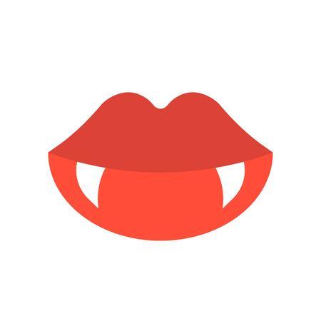 vampire teeth, Halloween related icon vector illustration