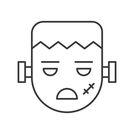 zombie vector, halloween character icon editable stroke